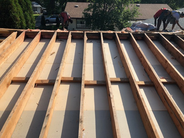 Construction roofing